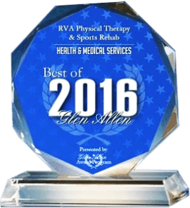 RVA Physical Therapy & Sports Rehab Receives 2016 Best of Glen Allen Award