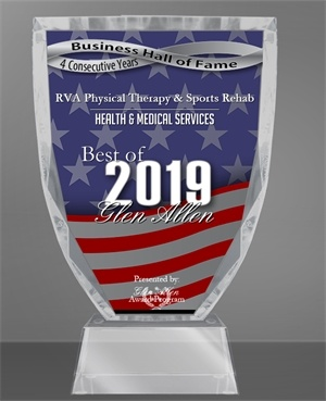 RVA Physical Therapy & Sports Rehab Receives 2019 Best of Glen Allen Award